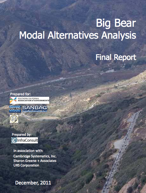 Big Bear Modal Alternative Analysis (2011)