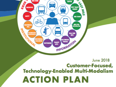 Customer-Based Ridesharing and Transit Interconnectivity Plan Cover page