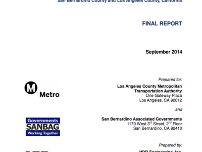METROLINK SAN BERNARDINO LINE Final report