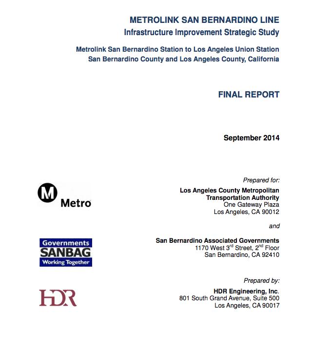 METROLINK SAN BERNARDINO LINE Final report