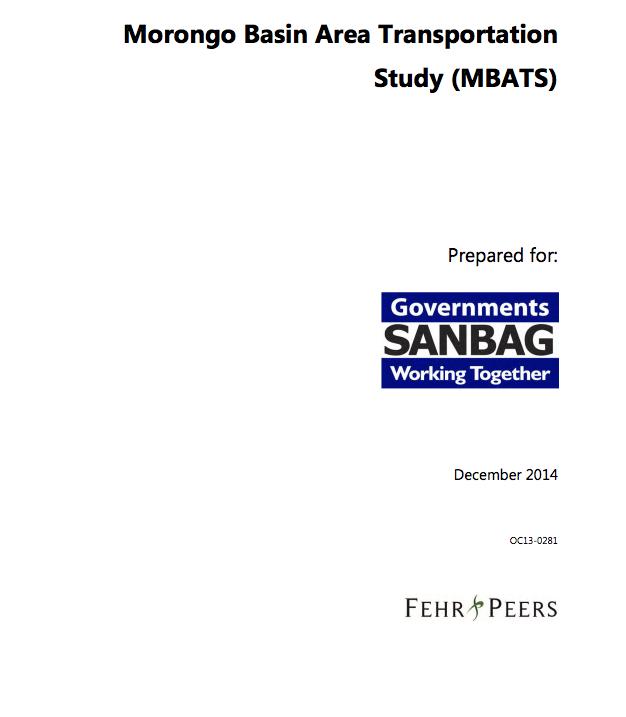 Morongo Basin Area Transportation Study (2014)