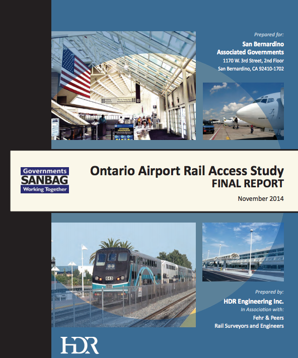 Ontario Airport Rail Access Study Basin Area Transportation Study