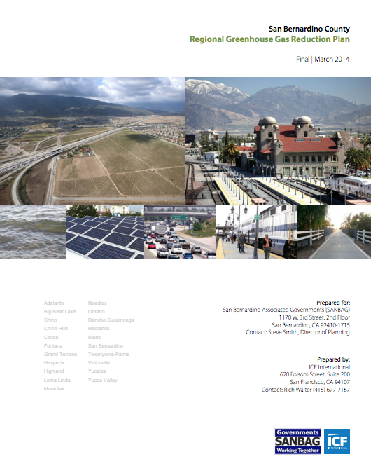 Regional Greenhouse Gas Reduction Plan (2014) cover page