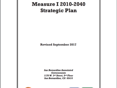 Measure I Strategic Plan Cover Page