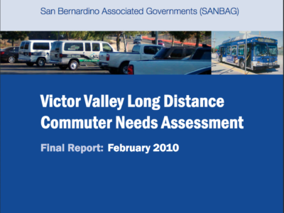 Victor Valley Long Distance Commuter Needs Study Cover Page