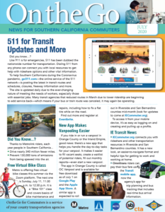 Image of July issue of On the Go for Commuters